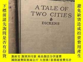 二手書博民逛書店1906年罕見A TALE OF TWO CITIES 北京交通大學藏書 BY CHARLES DICKENS 含