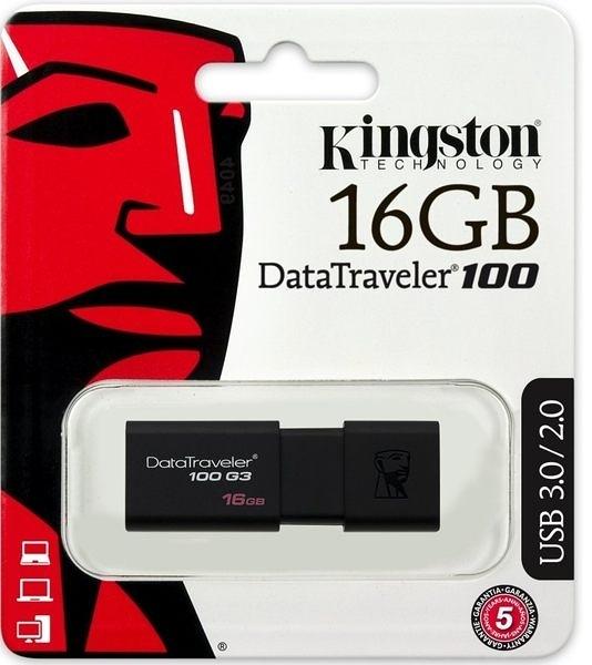 全新 金士頓 Kingston DT100G3/16GB USB 3.0 隨身碟