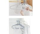 【SG391】無痕衣架(成人)10入 衣櫃家用塑料成人多功能防滑吊帶衣掛白色衣撐 乾濕兩用