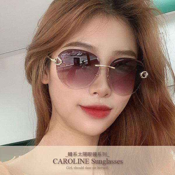 《Caroline》韓系質感熱門款網紅潮流無框ins太陽眼鏡71757