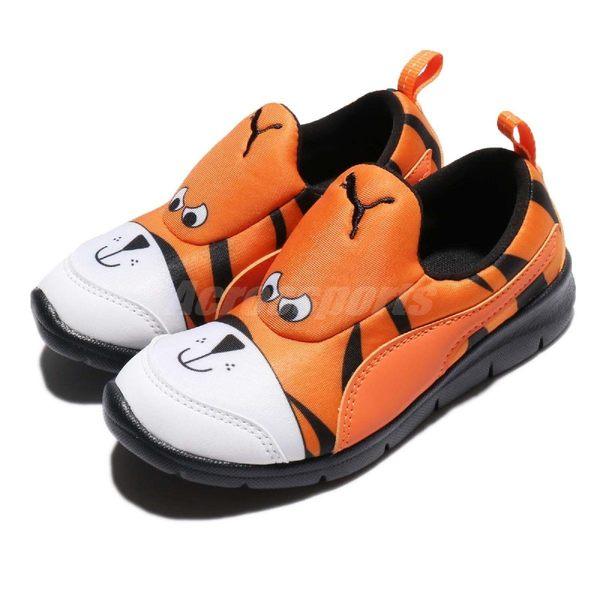 Puma 慢跑鞋 Bao 3 Zoo PS 黃 黑 老虎 無鞋帶設計 卡通動物設計 童鞋【PUMP306】 19010702