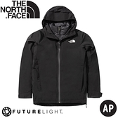【The North Face 女 FUTURELIGHT二件式防水透氣外套《黑》】4NAH/防風外套/保暖外套