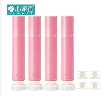 家用置物架配套調節腳 層架收納架儲物架15.8管徑專用調節腳  粉紅色