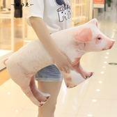 創意仿真母豬抱枕毛絨玩具女生娃娃家居靠枕小豬公仔生日禮物兒童【櫻花本鋪】