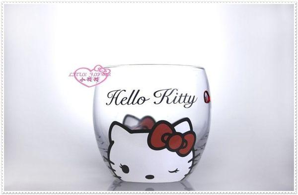 小花花日本精品♥ Hello Kitty Crystal Scen 施華洛世奇 玻璃杯/香檳杯 大臉緞帶11260400