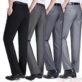 西裝褲 男士西褲夏季薄款中年寬鬆高腰商務休閒直筒免燙高檔西裝褲正裝褲 suger