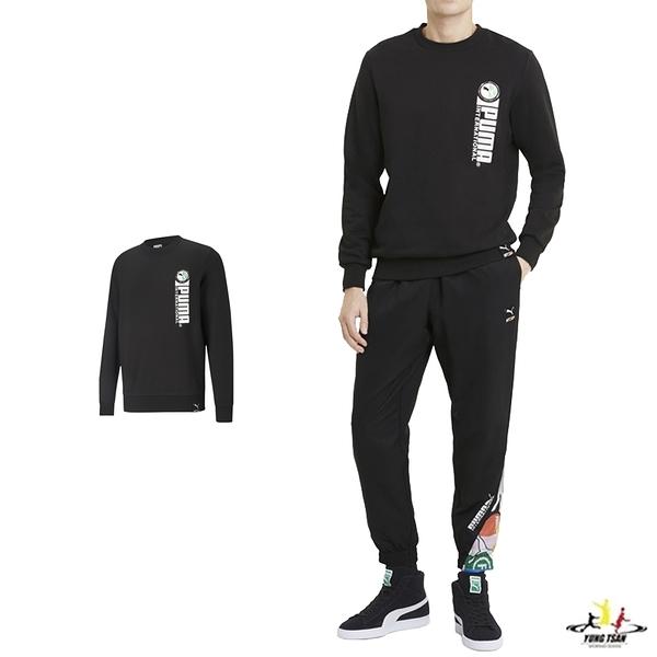 Puma PI 黑色 男款 長袖 上衣 圓領T 運動 棉質 運動 休閒 長袖 T桖 59980101