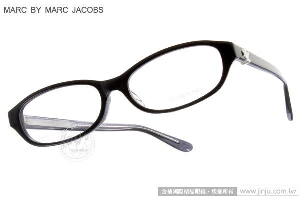 Marc By Marc Jacobs 光學眼鏡 MMJ0033J EBM (黑) 高貴典雅質感百搭款 平光鏡框 # 金橘眼鏡
