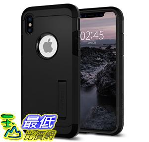 [106美國直購] 手機保護殼 Spigen Tough Armor iPhone X Case with Kickstand and Extreme Heavy