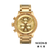 NIXON手錶 原廠總代理 A037-502 42-20 CHRONO金經典大錶徑 時尚鋼錶帶 男女 運動潛水 生日情人節禮物