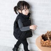 尾牙全館9折 兒童羽絨棉馬甲2018新款韓版冬季加厚立領男女童寶寶純色外穿背心 百搭潮品