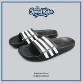ADIDAS 拖鞋 Duramo K 黑白 防水 海灘鞋 運動 休閒 G06799【Speedkobe】