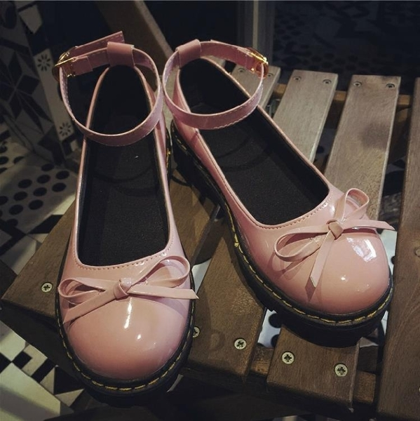 娃娃鞋 春季新款日繫原宿風平底圓頭小皮鞋蝴蝶結女鞋英倫女單鞋 - 歐美韓熱銷