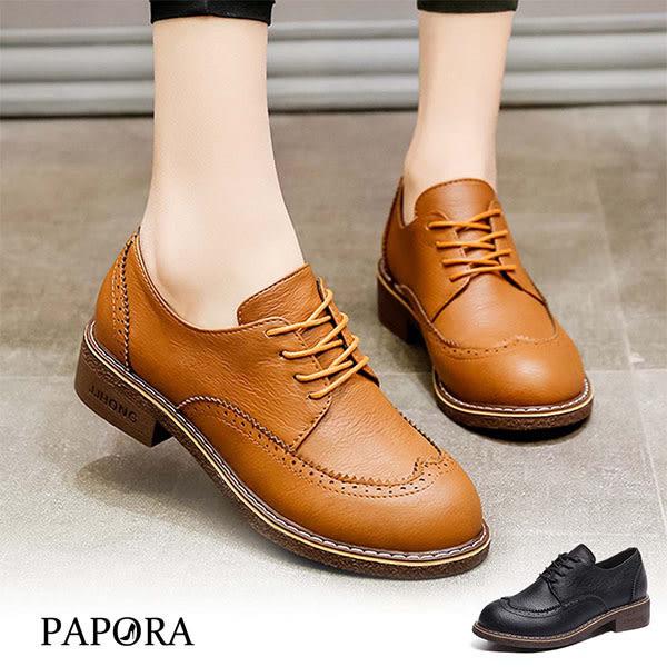 牛津鞋.圓頭綁帶紳士鞋【KVA821】黑/棕(偏小)