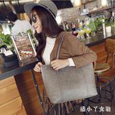 手提包韓版復古潮女包購物袋簡約托特大包包單肩包 XW4272【潘小丫女鞋】