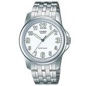 【台南 時代鐘錶 CASIO】卡西歐 台灣公司貨 MTP-1216A-7B 都會指針式時尚腕錶 銀/白