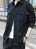 襯衫男士長袖韓版潮流帥氣襯衣服學生百搭工裝牛仔寸衫春裝外套潮