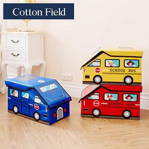 棉花田【Bus咘咘】立體汽車造型摺疊收納凳(3色可選)魔力紅