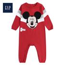 Gap男嬰兒Disney迪士尼系列米奇針織一件式包屁衣496634-摩登紅色