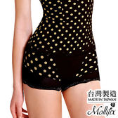 Mollifix瑪莉菲絲 280丹魅惑曲線縮腰翹翹平口褲 (波卡奶白)