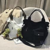 帆布大包女韓版手提托特布袋包斜挎包側背包【極簡生活】