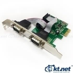[富廉網]【KTNET】KTCAPIEWCH382-2S PCI-E 9公*2埠 WCH382晶片 擴充卡