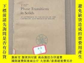 二手書博民逛書店phase罕見transitions in solids(P162)Y173412