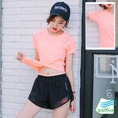 出清款-【BODYAIR】美背網紗收腰上衣(運動.慢跑.瑜珈)