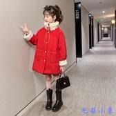 秋冬2020新款洋氣兒童裝女孩加厚呢子大衣小香風冬裝 【毛菇小象】
