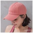 Catworld 簡約英文字刺繡棒球帽【18003748】‧F