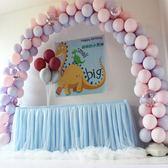 甜品臺裝飾桌布ins簽到婚禮生日派對周歲佈置定制桌紗桌裙蓬蓬紗 米希美衣