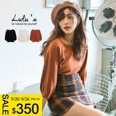 LULUS-D縮袖車線針織上衣-3色  現+預【01052738】
