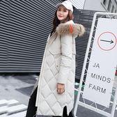 工廠批發價不退換新款羽絨服女修身中長款大碼顯瘦加厚大毛領棉服外套3508#(F1043)