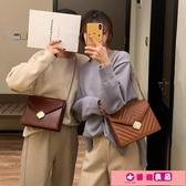 女小方包 CHIC包包女復古質感簡約菱格錬條2020新款韓版百搭單肩斜挎小方包 源治良品