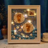 寶寶手足印泥胎毛紀念品diy新生的嬰兒手印腳印永久滿月百天禮物   蘑菇街小屋