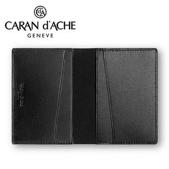 CARAN d'ACHE 瑞士卡達 CdA小牛皮名片夾. 黑 / 個