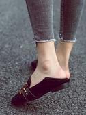 秋季新款英倫風方頭晚晚鞋復古百搭仙女單鞋女
