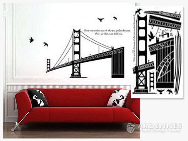 【ARDENNES】創意組合DIY壁貼/牆貼/兒童教室佈置/可重複貼 美國金門大橋