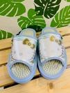 【震撼精品百貨】凱蒂貓_Hello Kitty~日本SANRIO三麗鷗 室內按摩拖鞋-蝴蝶結/藍色(尺寸M~L)#41592