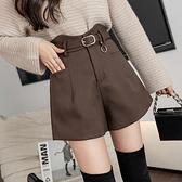 西裝短褲女韓版高腰顯瘦闊腿褲加厚時尚靴褲N195A快時尚