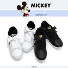 DISNEY 米奇寬版綁帶休閒鞋-(DW5635)