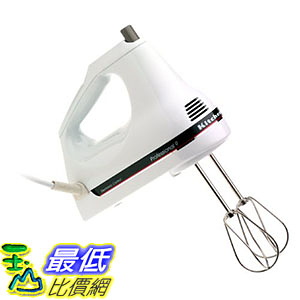 [106美國直購] KitchenAid KHM9PWH 9-Speed Professional Hand Mixer, White
