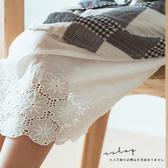 襯裙 花朵刺繡細肩帶棉麻襯裙 -小C館日系