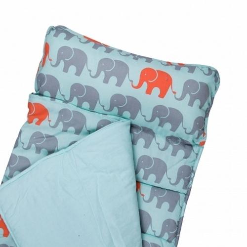 【LoveBBB】無毒幼教睡袋 符合美國標準 Wildkin 28802 小象叢林 午睡墊(3-7) 安親班/兒童睡袋