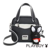 PLAYBOY- 2WAY小手提包 Firefly 螢火蟲狂想系列-經典黑白