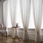 純色夢幻韓式紗簾田園臥室客廳飄窗落地遮光窗紗窗簾    LVV8337【衣好月圓】
