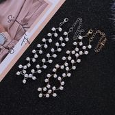 雙十二  珍珠鎖骨鍊女choker頸帶簡約短款項鍊女脖子飾品韓國項圈頸帶韓版  無糖工作室
