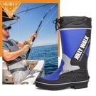 時尚夏季戶外釣魚鞋 雨鞋男高筒平底防滑橡膠男士防水雨靴 每日下殺NMS