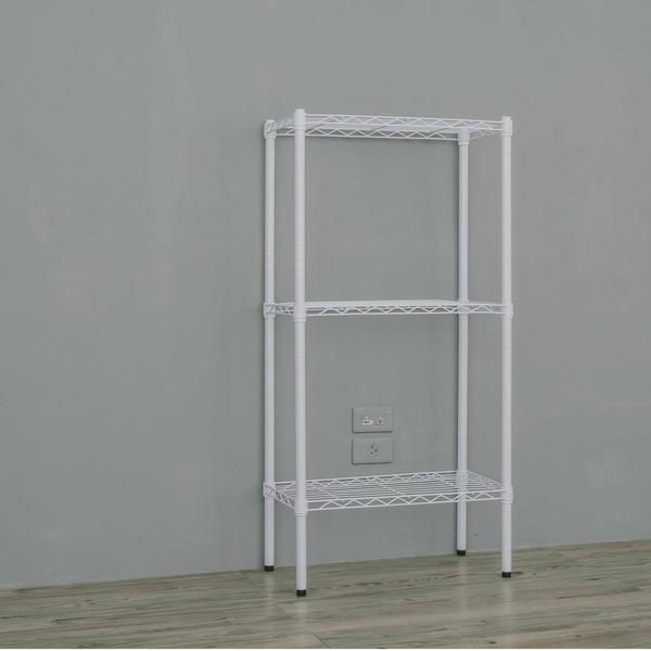 收納架/置物架/層架   60x30x120公分三層烤漆白鐵架  dayneeds