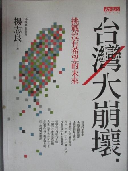 【書寶二手書T6/社會_CJA】台灣大崩壞-挑戰沒有希望的未來_楊志良